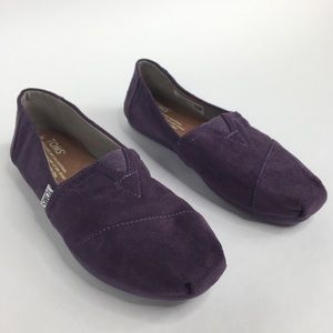 Toms Purple Canvas Original Flats Espadrilles